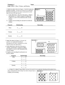 Printables Density Worksheet Chemistry mass volume and density 6th 10th grade worksheet lesson planet worksheet