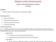 Masters of Our Environment Lesson Plan