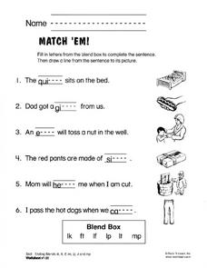 Match 'Em Worksheet