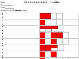 Match Fractions Worksheet Worksheet