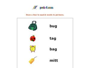 Match Pictures to Words Worksheet