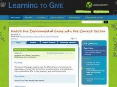 Match the Environment Group with the Correct Sector Lesson Plan