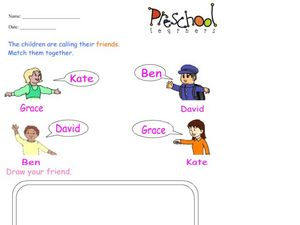 Matching Friends Worksheet