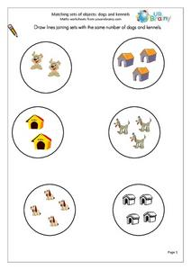 Matching Sets of Objects Worksheet