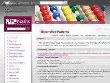 Matchstick Patterns Lesson Plan