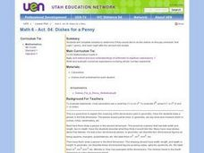 Math 6 - Act. 04: Dishes for a Penny Lesson Plan