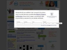 Math Crossword Puzzle # 24 - Multiplication and Division Worksheet