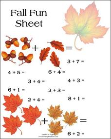 Math Fall Fun Sheet Worksheet