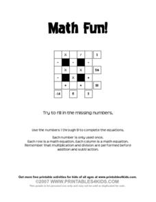 Math Fun! Worksheet