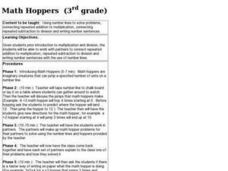 Math Hoppers Lesson Plan