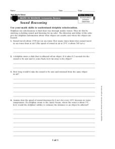 Math in Science-Sound Reasoning Worksheet