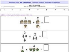 Math is Fun; Adding with Pictures Worksheet
