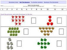 Math is Fun; Number Recognition 1-12 Worksheet