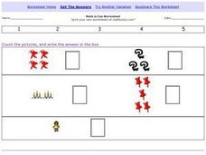 Math is Fun: Number Recognition 1-5 Worksheet