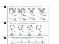 Math Online Exercises Worksheet