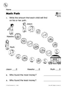 Math Path Worksheet