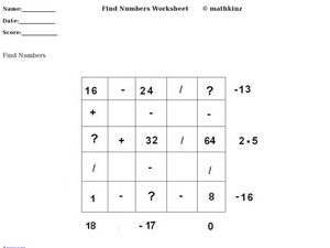 math worksheet : math puzzle mixed operations 4th  5th grade worksheet  lesson  : Math Operations Worksheet