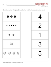 Math Readiness - Counting 1 to 5 Worksheet