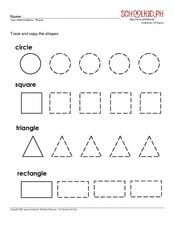Math Readiness: Shapes Worksheet