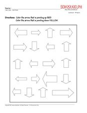Math - up and down Worksheet