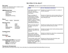 Math! What's It All About? Lesson Plan