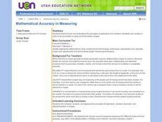 Mathematical Accuracy in Measuring Lesson Plan