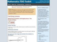 Mathematical Models with Applications: The Sounds of Music Lesson Plan