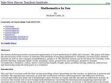 Mathematics In You Lesson Plan