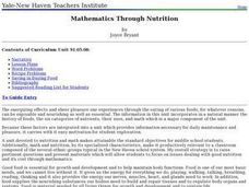 Mathematics Through Nutrition Lesson Plan