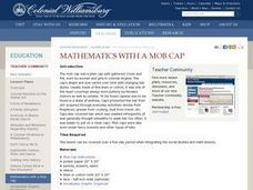 Mathematics With a Mob Cap Lesson Plan