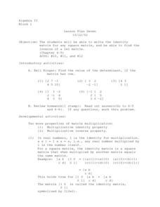 Matrix Lesson Plan
