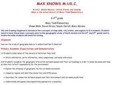 Max Knows Mexicao, United States and Canada Lesson Plan