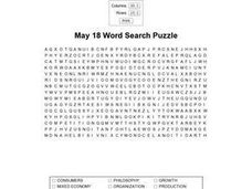 May 18 Word Search Puzzle Worksheet