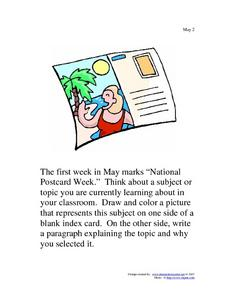 May 2nd Writing Prompt Worksheet