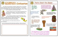 Mayan Civilization and Fact Sheet Worksheet