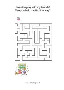 MAZE: PLAYING WITH FRIENDS Worksheet