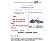 McCarthyism: The Effects of the Anti-Communism Fear Lesson Plan