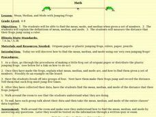 Mean, Median, and Mode with Jumping Frogs Lesson Plan