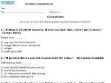 Meaning of Quotations Worksheet