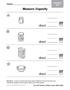Measure Capacity Practice 12.7 Worksheet