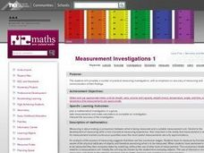 Measurement Investigations 1 Lesson Plan