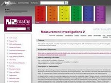Measurement Investigations 2 Lesson Plan