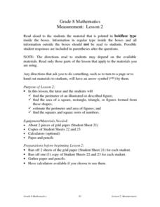 Measurement: Lesson 2 Lesson Plan