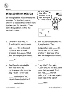 Measurement Mix-Up Worksheet