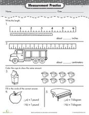Measurement Practice Worksheet