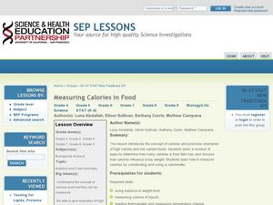Measuring Calories in Food Lesson Plan