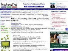 Measuring the Earth (Eratoshenes' method) Lesson Plan