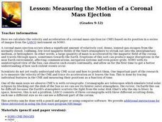 Measuring the Motion of a Coronal Mass Ejection Lesson Plan