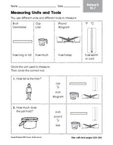 Measuring Units and Tools reteach 18.7 Worksheet