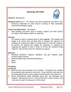 Measuring With Fluids Lesson Plan